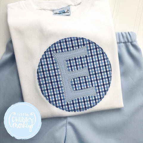 Boy Shirt - Applique Initial Patch