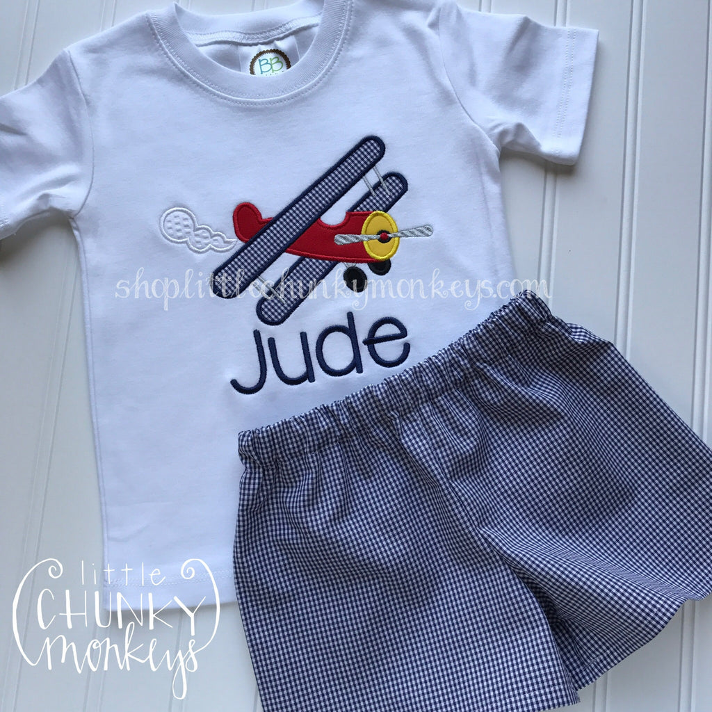 Boy Shirt - Personalized Airplane