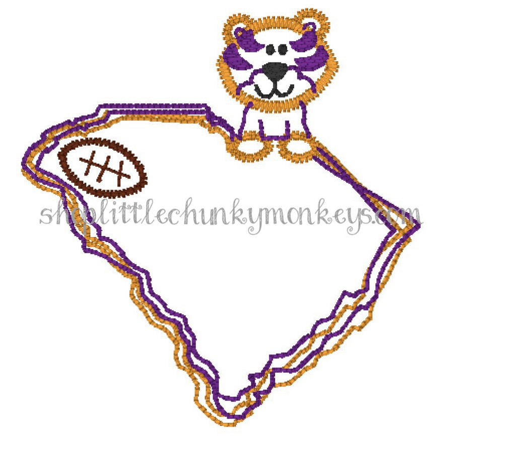 Football Shirt- Stitch Football Tiger South Carolina