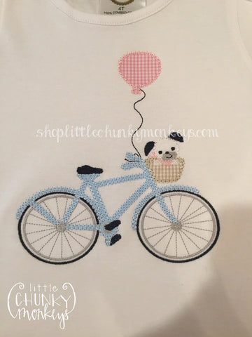 Girl Shirt - Dog on Bike