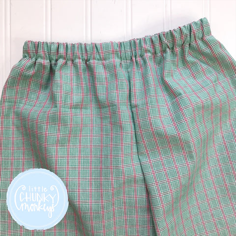 Red and Green Windowpane Custom Bottoms