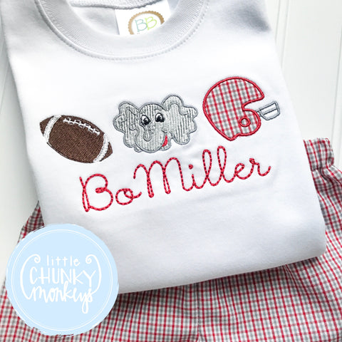 Boy Shirt - Football Elephant Helmet Trio Shirt