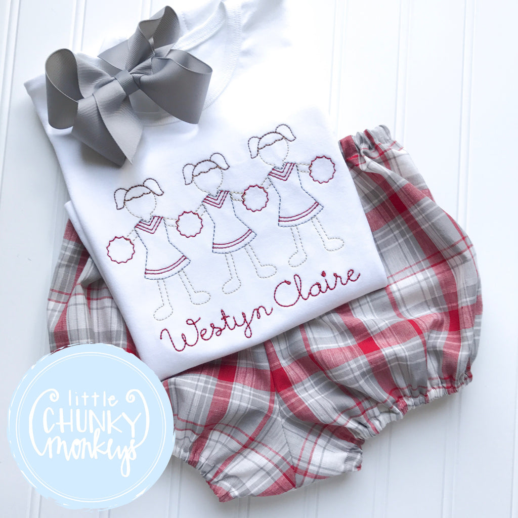 Unisex Bloomers - Crimson & Grey Plaid