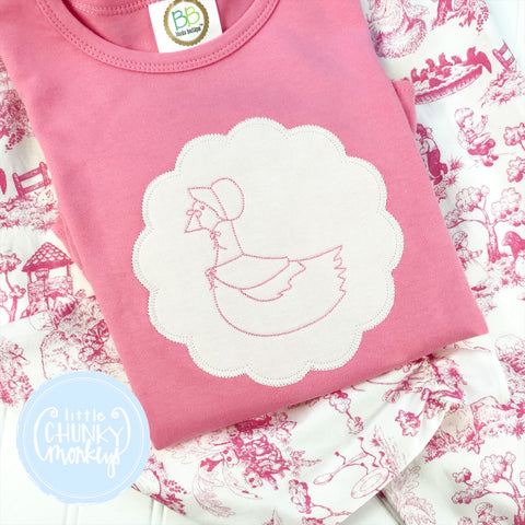 Ready to Ship - Scallop Momma Goose - 5T Short Sleeve