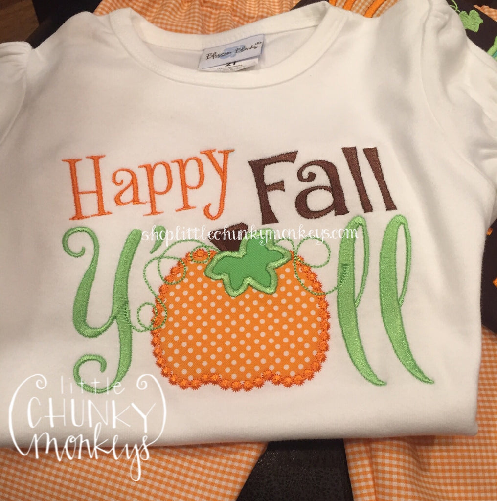 Girl Shirt - Happy Fall Yall Shirt