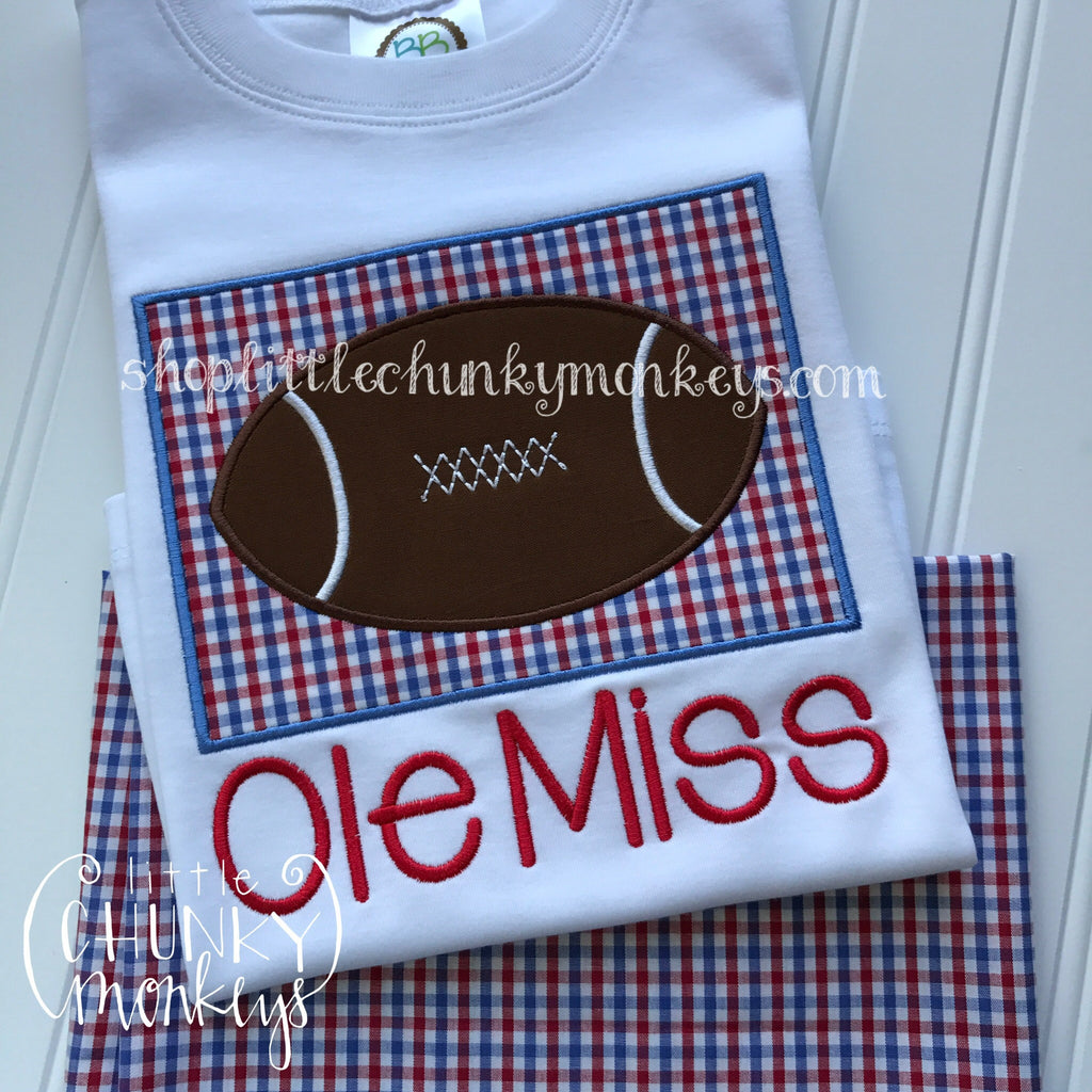 Boy Shirt - Boy Football Shirt - Football Patch Shirt