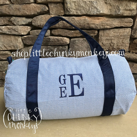 Duffle + Personalization on Navy