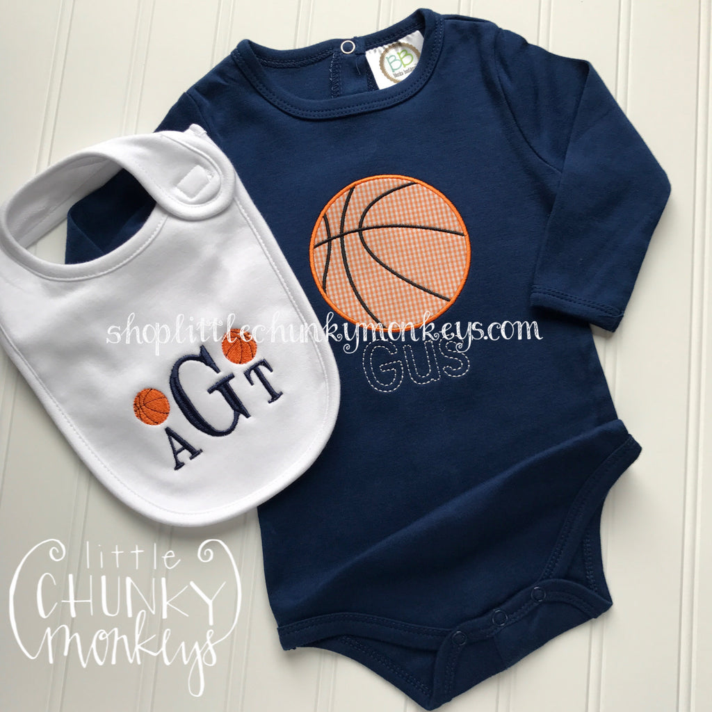 Boy Bodysuit - Basketball on Navy Bodysuit