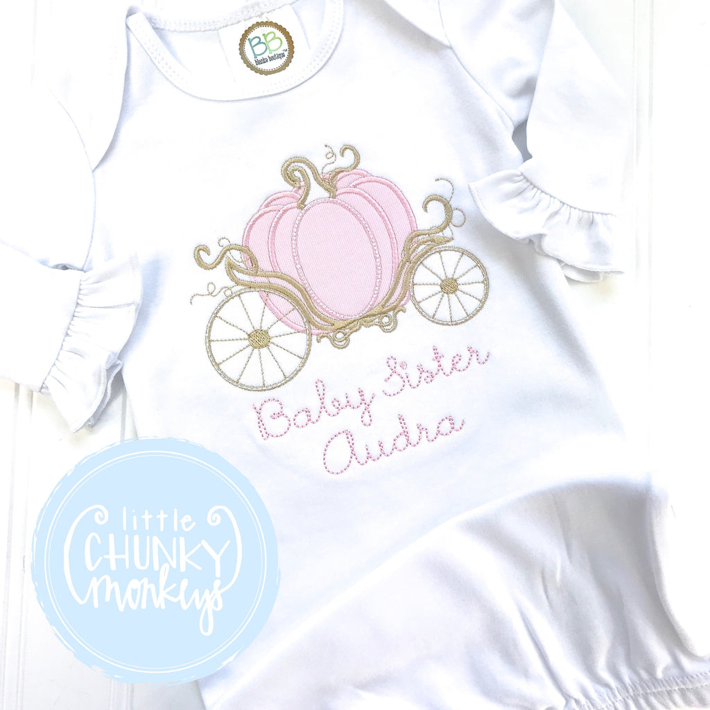Baby Girl Gown - Bring Home Outfit - Baby Sister Carriage Gown