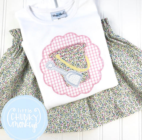 Girl Shirt - Sand-bucket Appliqué Shirt