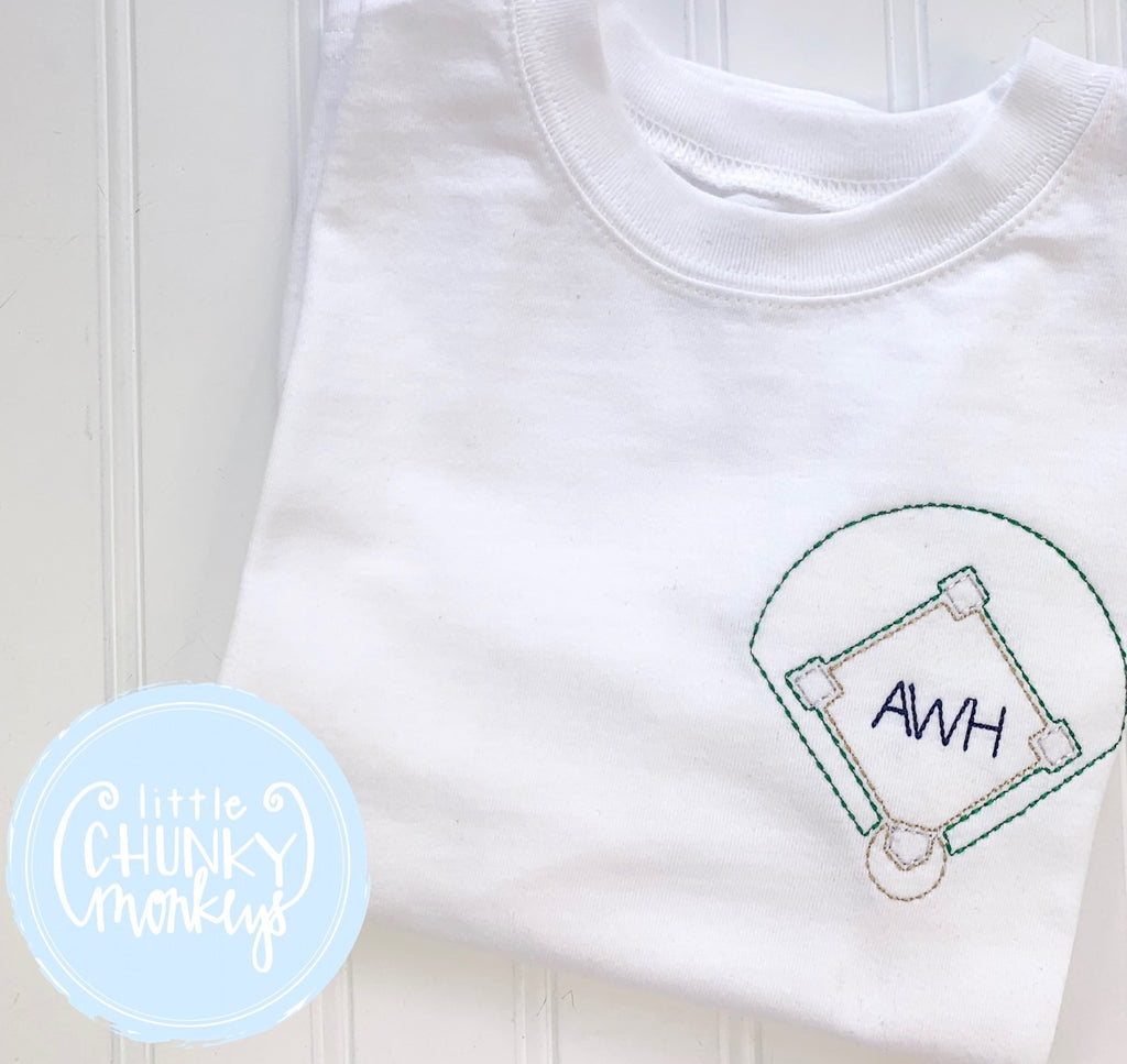 Boy Outfit - Boy Shirt - Personalized Baseball Vintage Stitch Tee