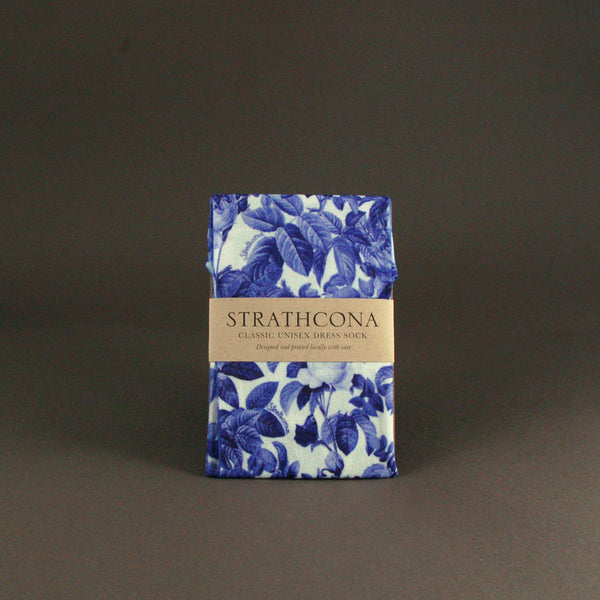 Strathcona Stockings - Blue China Rose
