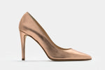 ROSE-GOLD METALLIC LEATHER ALICIA PUMP
