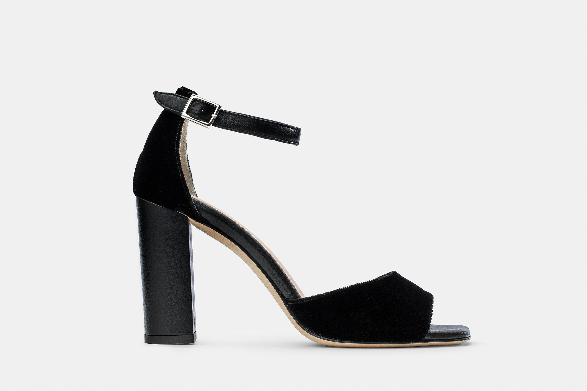 VELVET + NAPPA LEATHER CATHERINE SANDAL