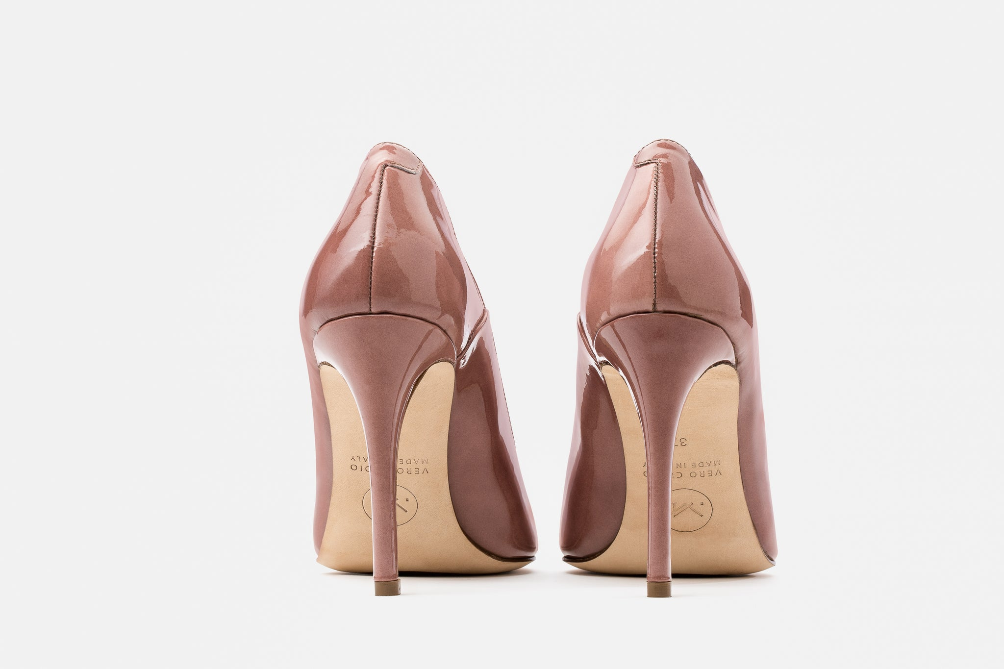 BLUSH PATENT LEATHER LUCY PUMP