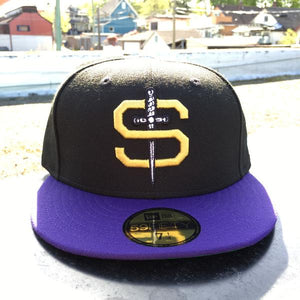 SUNSET STILETTOS X NEW ERA 59/50 - BLACK / PURPLE