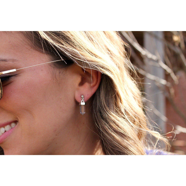 Clear Quartz Crystal Earring