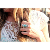 Turquoise Flower Ring - Beautifull Boundaries
