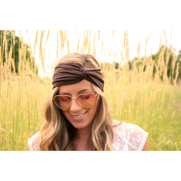 Nature Brown Jersey Headband