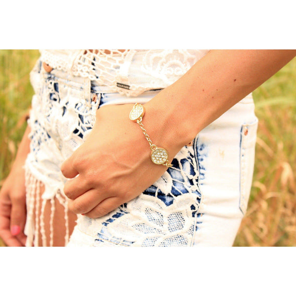 Circle Circle Jewelled Bracelet & Anklet