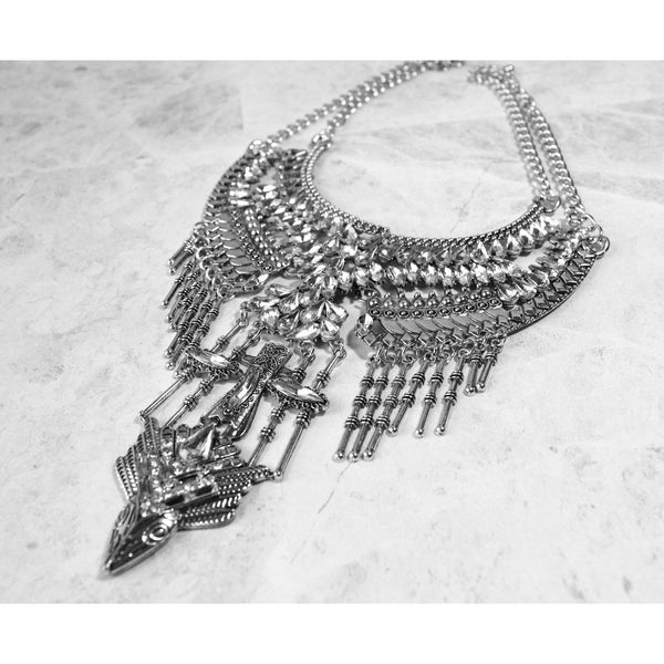 Fierce Diamond Silver Necklace