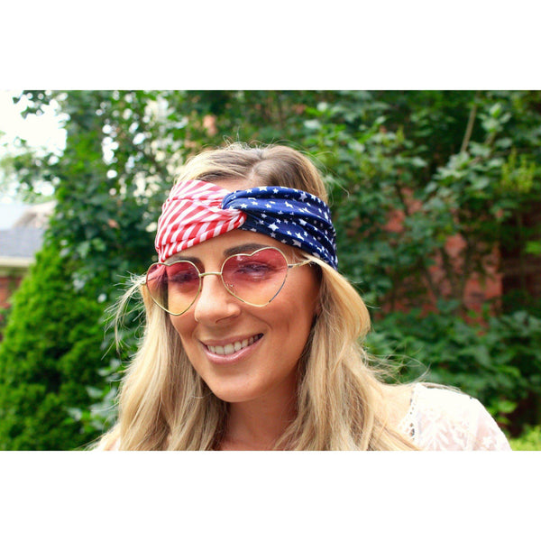 Spangled American Flag Twist Headband