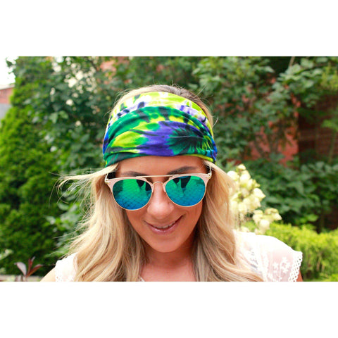 Tiedye Limelight Yoga Headband