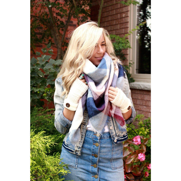 Plumberry Plaid Blanket Scarf