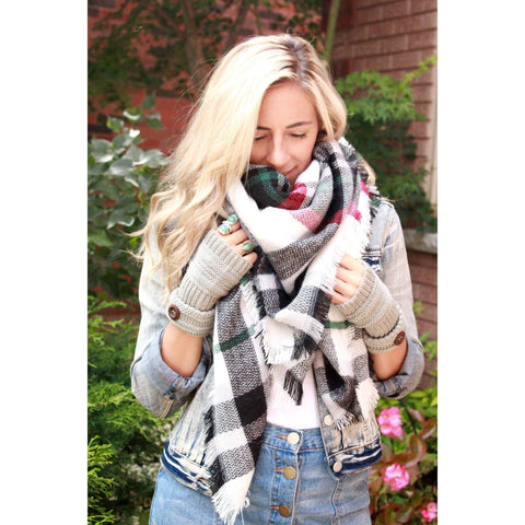 Liquorice Plaid Blanket Scarf