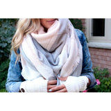 White Rose Plaid Blanket Scarf - Beautifull Boundaries