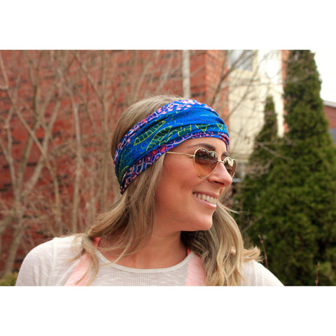 Blue Mandala Yoga Headband