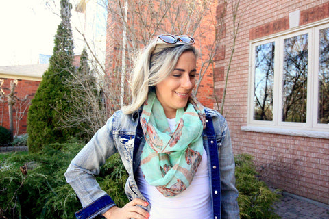 Fresh Green Lightweight Spring Scarf