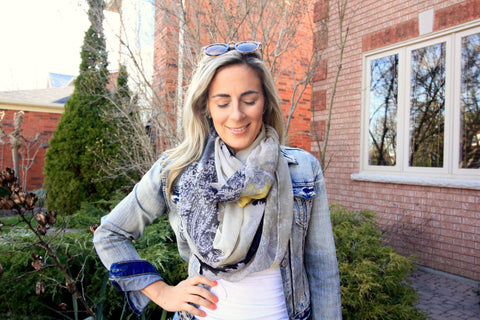 Denim Lightweight Spring Scarf