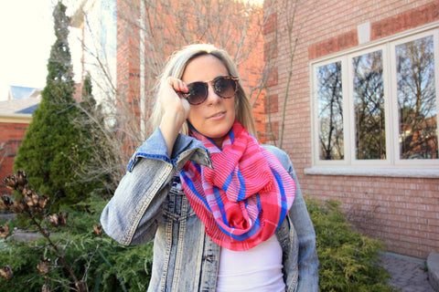 Pinky Lightweight Spring Scarf