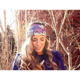 Lilac Garden Yoga Headband - Beautifull Boundaries