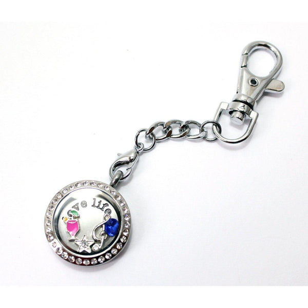 Floating Locket Keychain