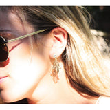 Hamsa Dangle Jacket Earring - Beautifull Boundaries