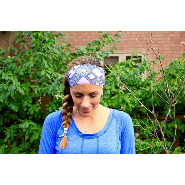 Mauve Triangles Yoga Headband