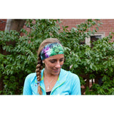 Green Nebula Yoga Headband - Beautifull Boundaries