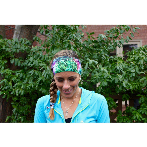 Green Nebula Yoga Headband