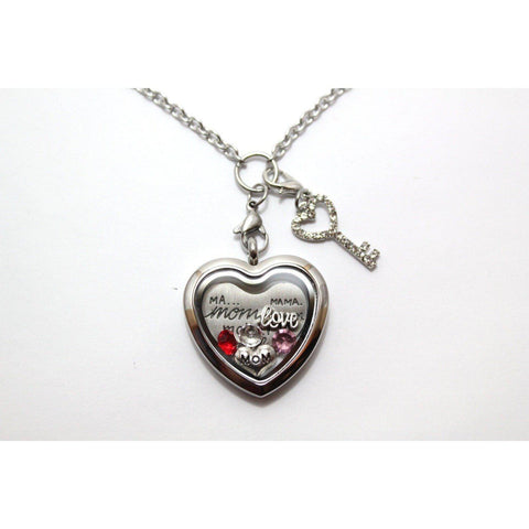 Mom Heart Floating Locket