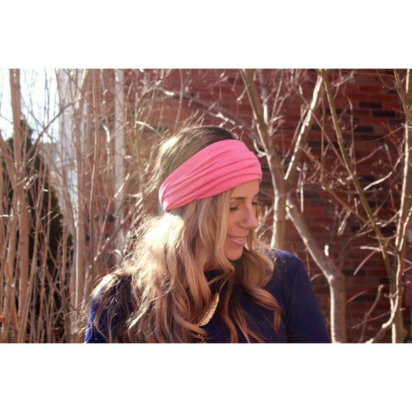 Watermelon Pink Tapered Headband