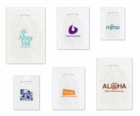 Clear Frosted Merchandise Bags