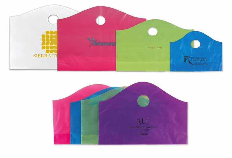 Frosted Super Wave Handle Bags