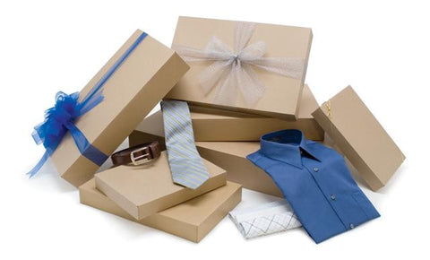 Natural Kraft Apparel Boxes