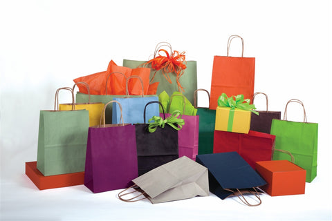 Shadow Stripe Paper Shopping Bag
