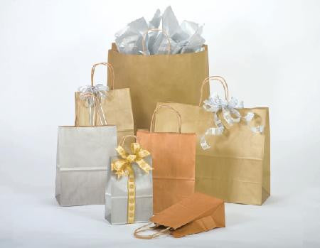 Precious Metals Paper Shopping Bags
