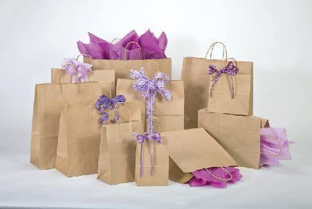 Natural Kraft Paper Shopping Bags