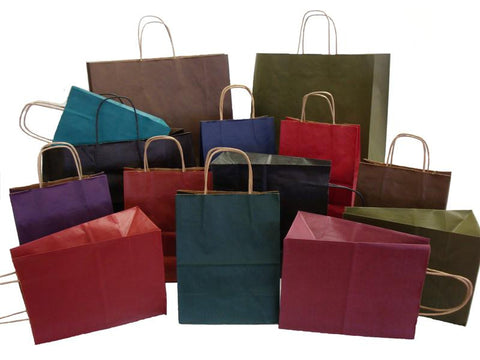 100% Tint Color Paper Shopping Bags