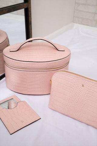 Pale Pink Croc Beauty Collection